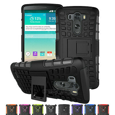 Hybrid Heavy Duty Shockproof Rugged Kickstand Hard Case Cover For LG Smart Phone