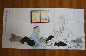 RARE-LARGE-Chinese-100-Handed-Painting-By-Fan-Zeng-DH11