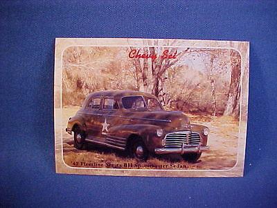 1942 Chevy Fleetline Series BH Sportmaster Sedan US Army collector card--new 42