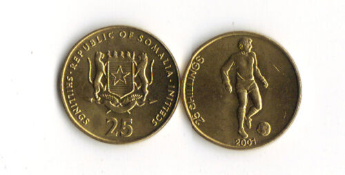 SOMALIA *25 SHILLINGS 2001*SOCCER PLAYER*LOT O10* WORLD FOREIGN COINS AFRICA