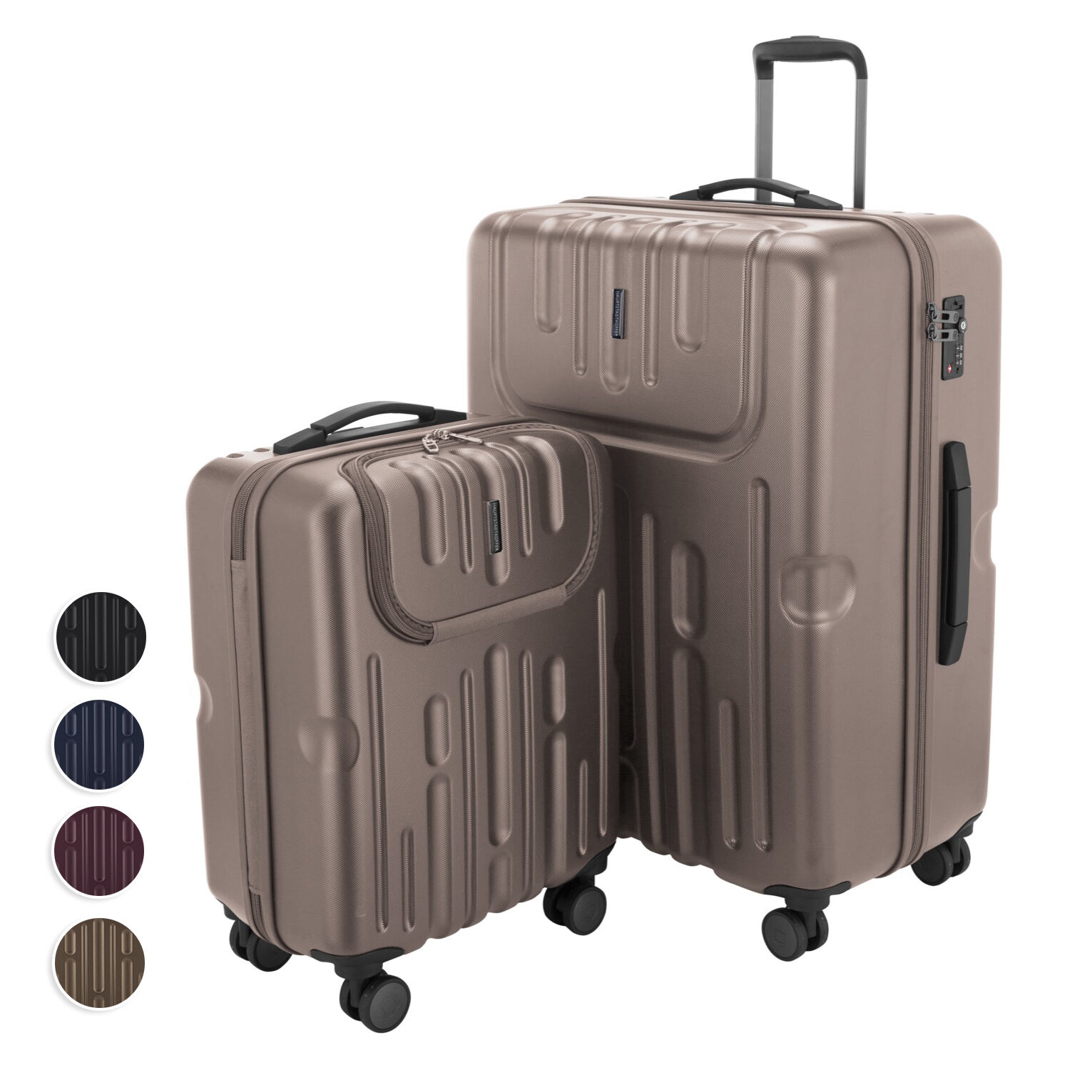 M. havel trolley lot de 2 hardside sacagerie valise trolley s & l