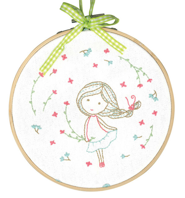 DMC Printed Embroidery Kit  TAMAR SPRING GIRL - IDEAL CHRISTMAS GIFT BNIP