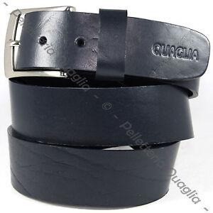 scarpe di separazione c1d0d 7a94d Dettagli su Cintura Pelle Blu Notte Scuro Cuoio Uomo Donna Artigianale Made  In Italy 4,0 cm