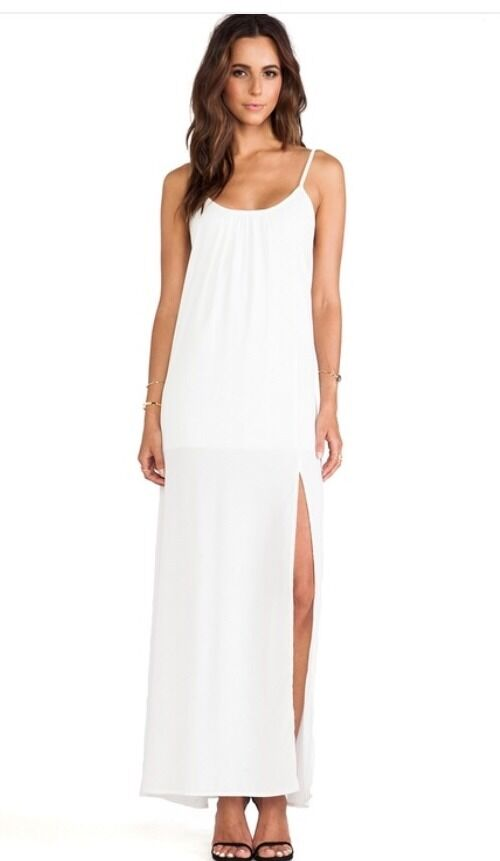 NWT damen MIZANI Weiß Trapeze Gown Dress Größe Medium Retail