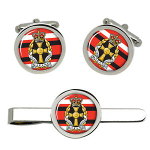 Queen-Alexandra-039-s-Royal-Army-Nursing-Corps-army-Cufflinks-and-Tie-Clip-Set