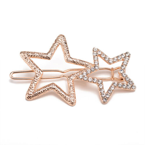 Women/'s Girl/'s Hair Clip Rhinestone Crystal Hairpin Barrette Slide Clips Grip