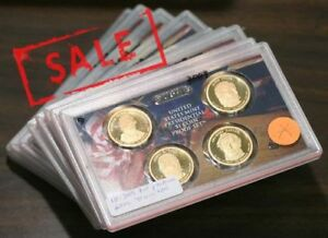 10X-2009-United-States-Mint-Presidential-1-Coin-Proof-Set-Liberty-40-UNC-Coins