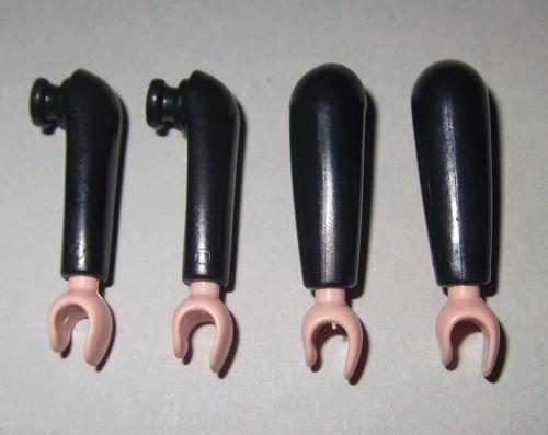 Noble 152004 Arm Simple Black 4u Playmobil Soldier Arm Night Knight