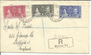 Frugal Somaliland Protectorate Couronnement Issue Sg#90-92 Berbera 4/no/1937-afficher Le Titre D'origine Pour ExpéDition Rapide