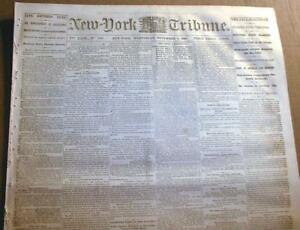 Lot-of-75-COMPLETE-ORIGINAL-US-newspapers-dated-between-1820-amp-1889-100-YrsOld
