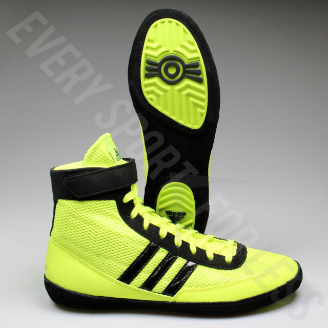 Adidas Combat Speed 4 Wrestling Shoes S77933 -Solar Yellow Black (NEW) Lists 49c124aa9