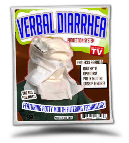 Funny Gag Gift for Friends Verbal Diarrhea Protection System Family Coworkers