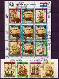 PARAGUAY 1987 Segelschiffe Kleinbogen und Satz - Sachsen, Deutschland - PARAGUAY 1987 Segelschiffe Kleinbogen und Satz - Sachsen, Deutschland