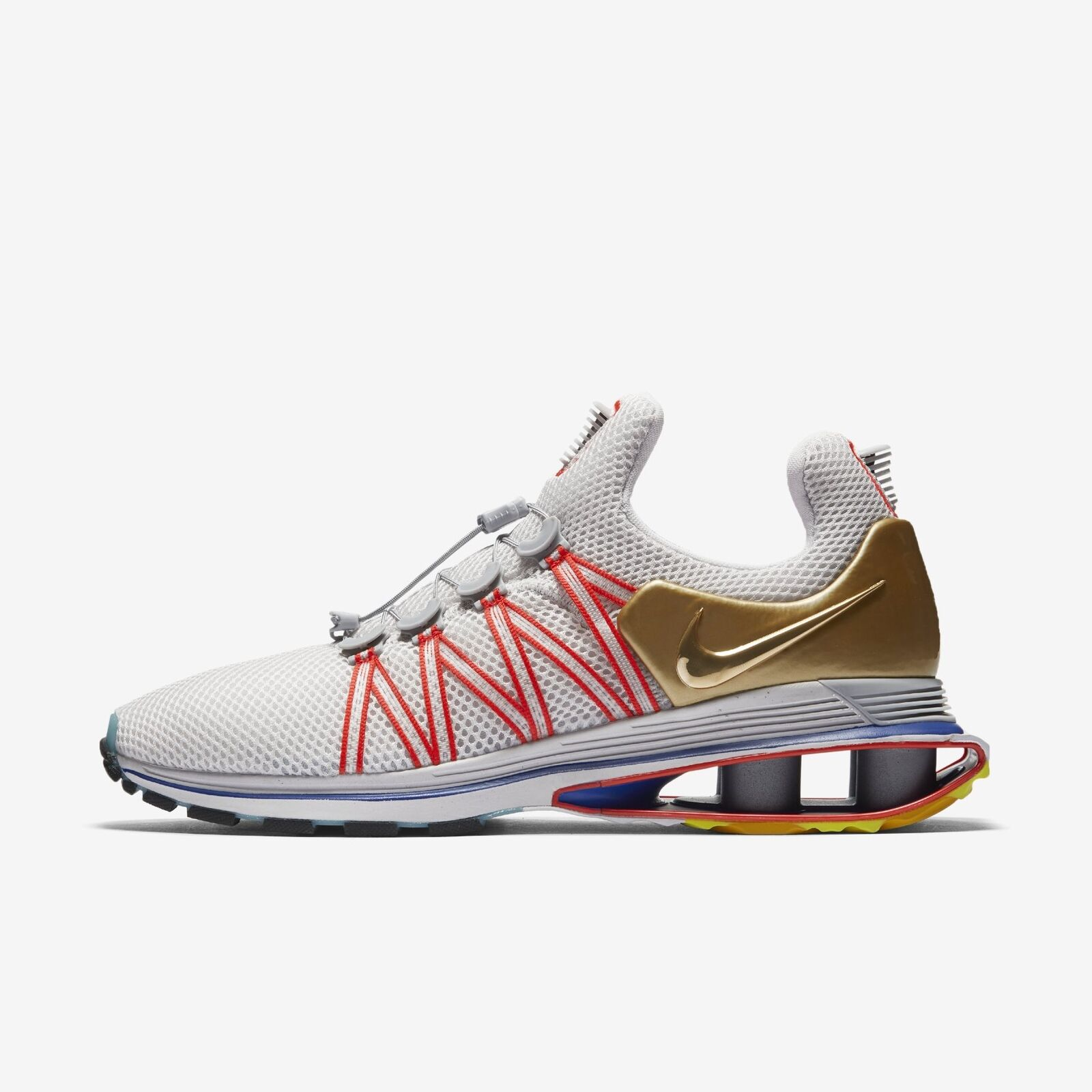 Men's Nike Shox Gravity shoes Vast Grey blueee Metallic gold Size 12 AQ8553 009