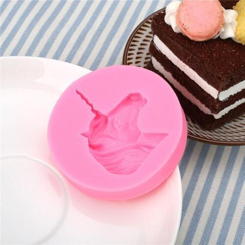 Unicorn Head Fondant Chocolate Silicone Mould Sugar Craft Baking Tool SL