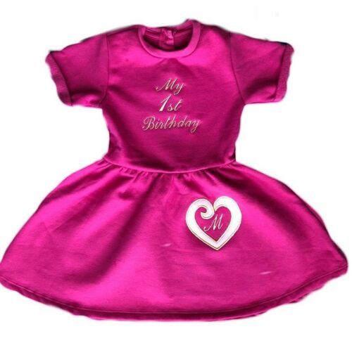 Personalised First,Second,Third Baby//Toddler//Girl Name Dress,Birthday Party Gift
