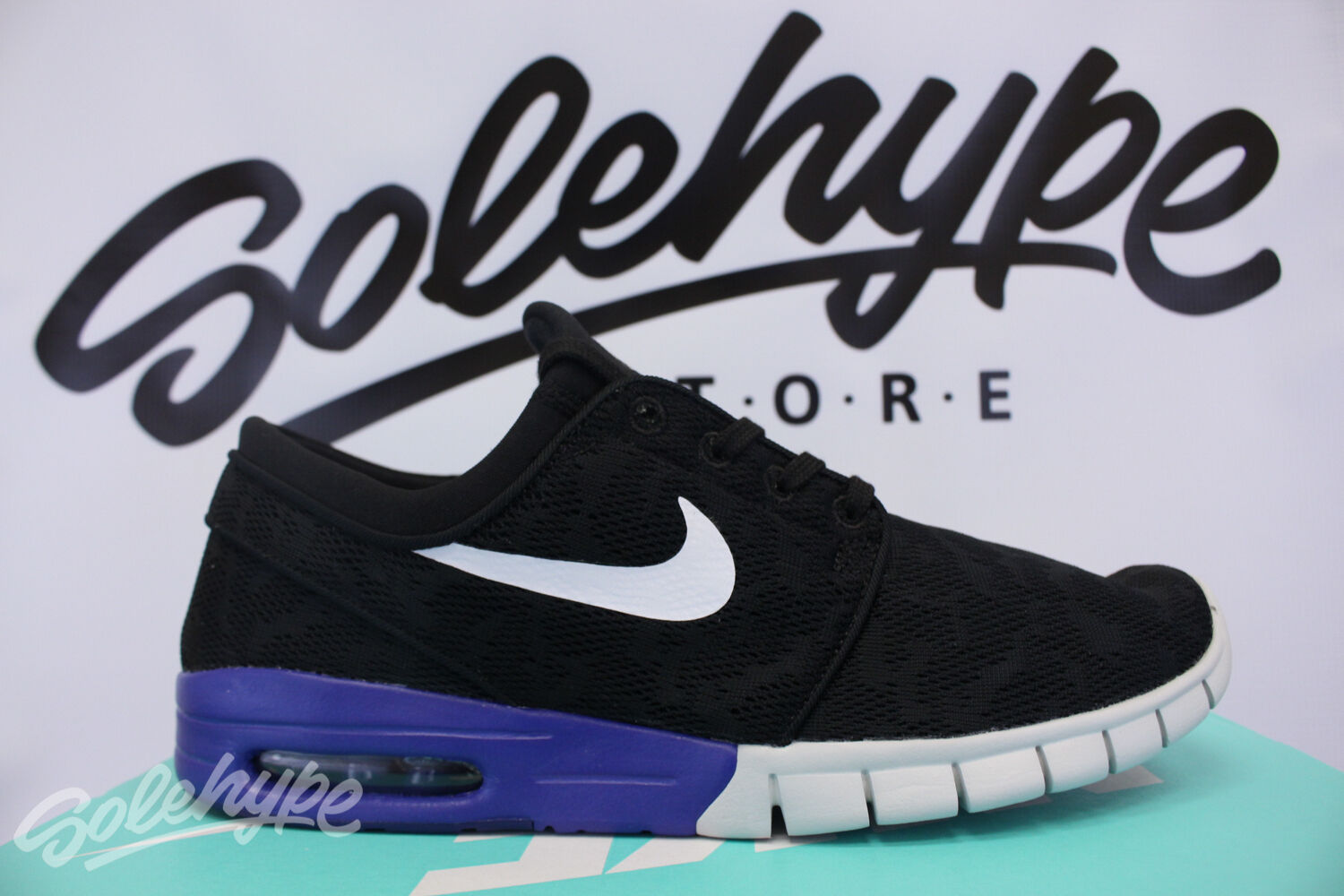NIKE NIGHT SB ZOOM STEFAN JANOSKI MAX BLACK WHITE DEEP NIGHT NIKE 631303 015 SZ 12 8f5c89