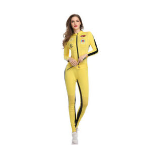 New-Style-Women-039-s-Bruce-Lee-Dress-Up-Costume-Cosplay-Halloween-Party-Outfit