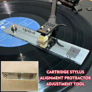 Turntable-Phono-Cartridge-Stylus-Alignment-Protractor-Tool-Phonograph-Acces-Hot