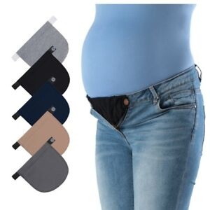 95aaa4bfe La imagen se está cargando Pantalones-Jeans -Maternidad-Embarazo-cintura-ajustable-Cinturon-Elastico-