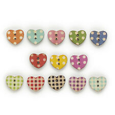 50pcs 2 Hole Mixed Horse Wood Buttons Crafts Decor Sewing Scrapbooking 29x25mm
