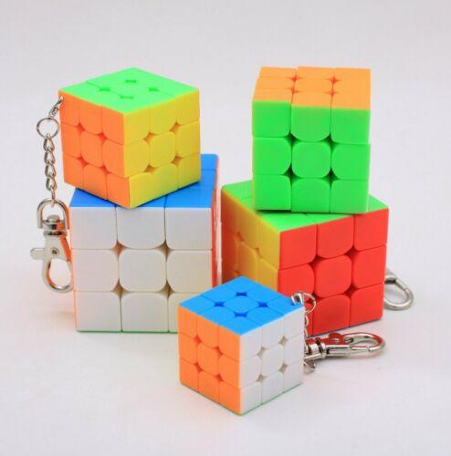 5 PCS 3x3x3 Magic Cube Set 3.0, 3.5, 4.0, 4.5, 5.0 Twist Puzzle Toys Multi-Color