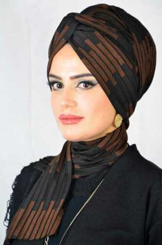 Tt3922 velo finito Hazir zincir BANDANA Esarp Sal tesettür Hijab Khimar