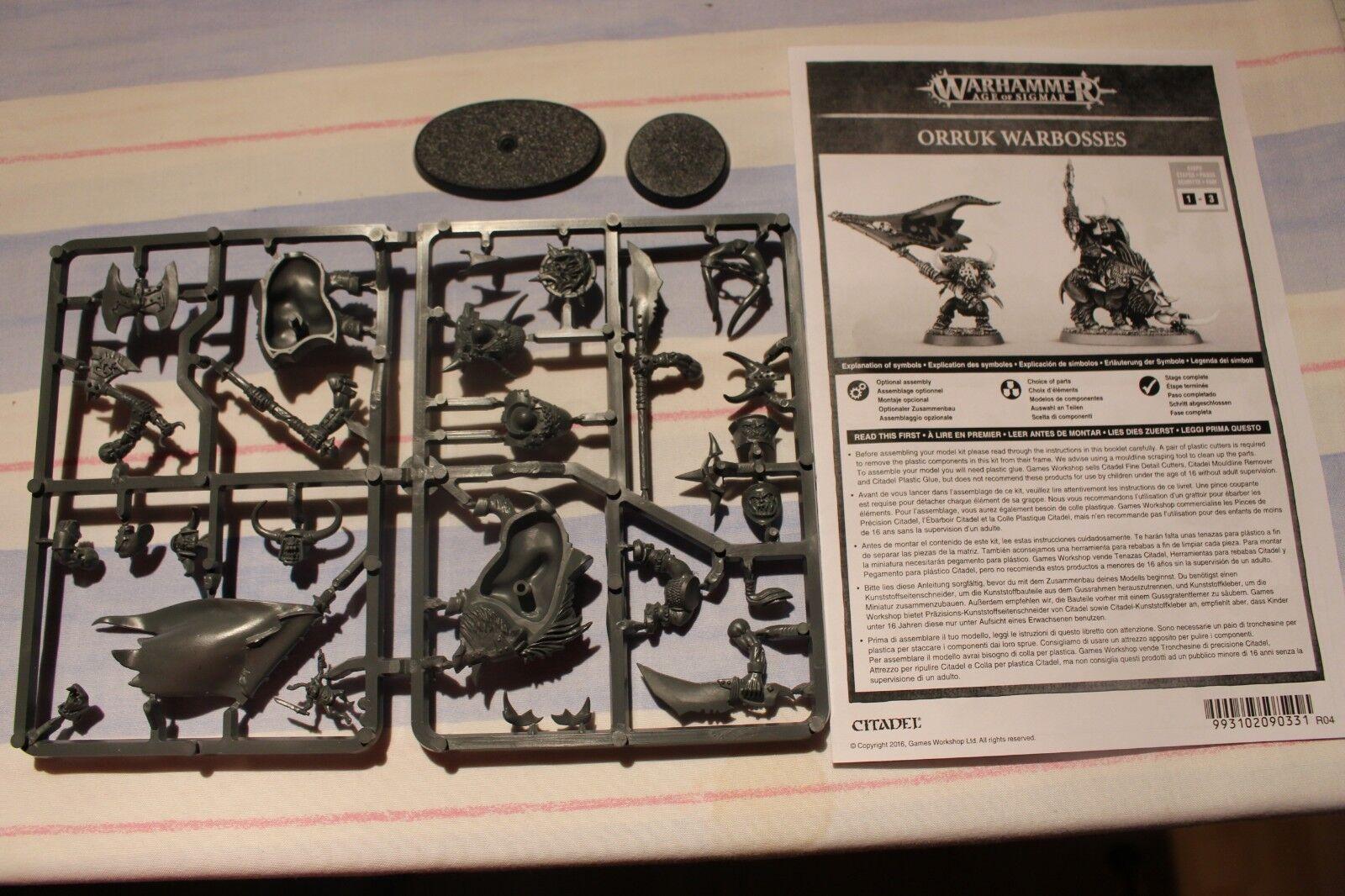 Games Workshop Warhammer Orruk Warboss Orruks Orcs BNOS New Sprues Sigmar Orc