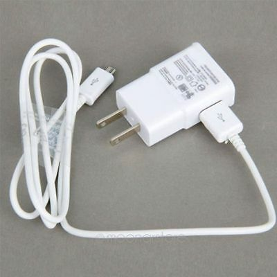 SamSung Galaxy Note2 S4 S3 US Charger Adapter Travel AC Wall  USB Data Cable-M86