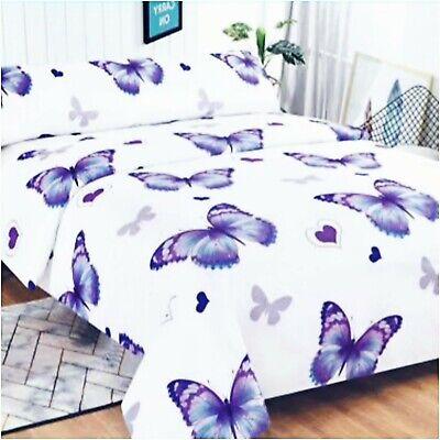 JUEGO DE SABANAS 3 piezas mariposas morado cama 150 barato