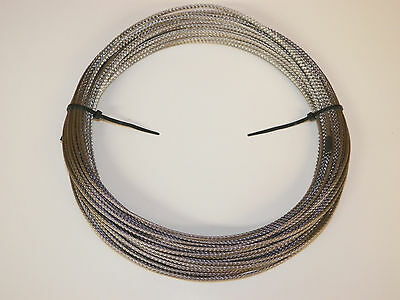 """5 FEET Braided 304 stainless wire sleeve sheathing 1//4/"""" EXPANDABLE NEVER RUST"""