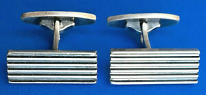 Vintage Danish Jewelry Sterling Silver 925S Hans Hansen cufflinks Denmark HaH Scandinavian