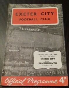 Exeter-City-v-Bournemouth-Programme-05-11-60