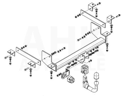 Für Renault Master III Kasten ohne Trittbrett ab 12 AHK abn.+E-Satz 13p spez ABE