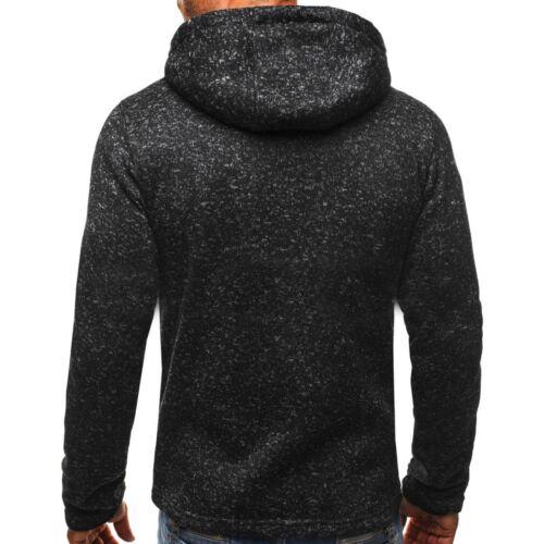 Men/'s Winter Slim Hoodie Warm Hooded Sweatshirt Coat Jacket Outwear Sweater A++