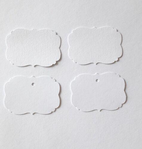40 VINTAGE TABLE Petites Cartes pour Mariage baptême Communion Blanc 4 cm X 5,6 cm