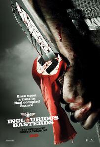 "Inglourious Basterds Silk Fabric Movie Poster Tarantino Brad Pitt 24/""x36/"" New"