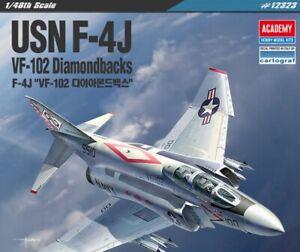 Academy-1-48-USN-F-4J-Phantom2-VF-102-Diamondbacks-Assemble-Plastic-Model-Kit