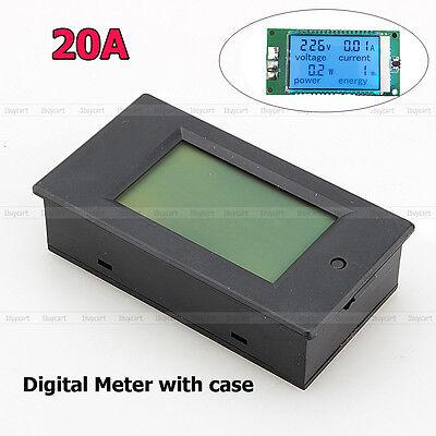 Digital LED AC 20A Volt Amp Watt Power Monitor Energy Ammeter Voltmeter w/ case