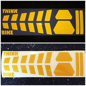 Image is loading 8x-White-REFLECTIVE-Strip-Bicycle-Motorcycle-Helmet- Stickers-