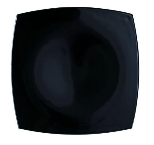 Arcoroc C9867 Delice Teller flach 18,6 cm quadratisch Opalglas schwarz 6 St