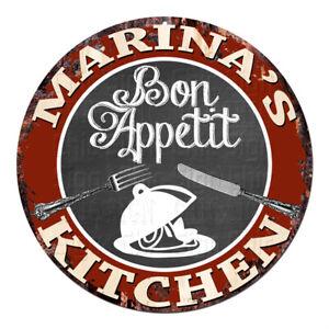 CPBK-0501-MARINA-039-S-KITCHEN-Bon-Appetit-Chic-Tin-Sign-Decor-Gift-Ideas
