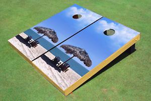 Beach Chairs Cornhole  Board Bag Toss set  the most fashionable