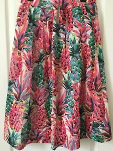 Ratti Pineapple Jcrew line 8 Painted 4 Nwt Skirt 6 A 5qatd