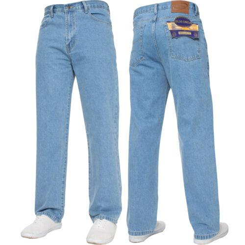 New Mens Straight Leg Basic Heavy Work Jeans Denim Pants All Waist Big Sizes
