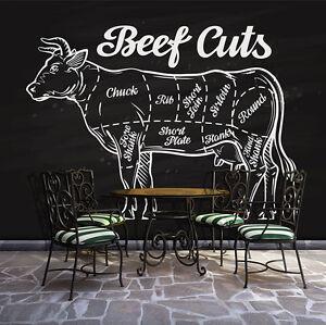 POSTER TAPETEN FOTOTAPETE TAPETEN Tier Kuh Beef Fleisch Küche ...