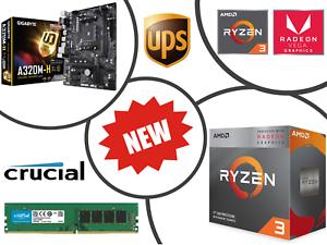 AMD-Ryzen-4-Core-4-0GHz-Gigabyte-A320M-PRO-Gaming-Motherboard-Bundle-16GB-RAM