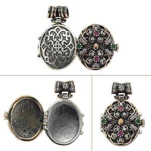 Secret-Turkish-Handmade-Ruby-Emerald-Topaz-925-Sterling-Silver-Locket-Pendant