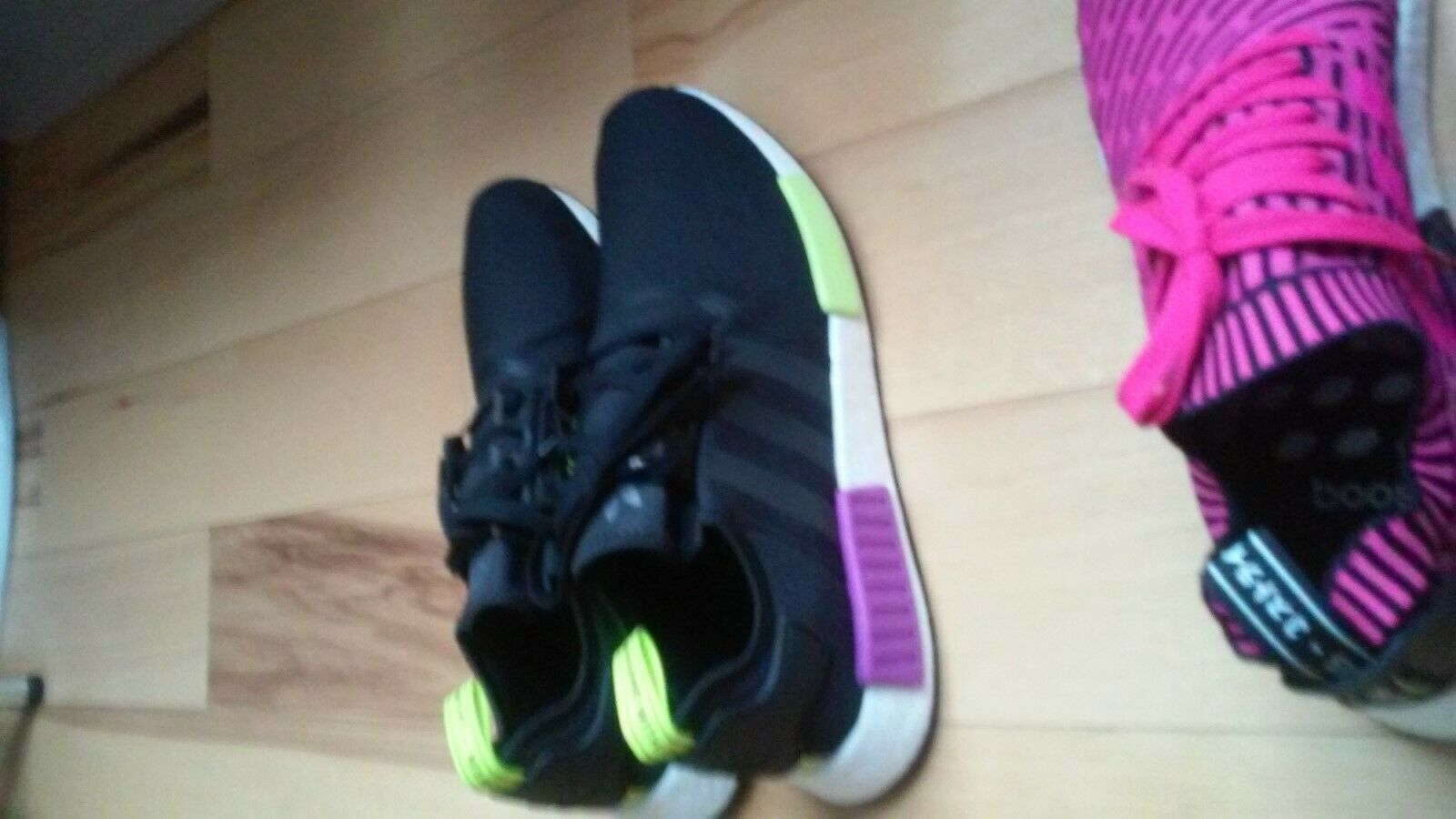 Adidas NMD R1 Men's size 14 Black purple c04cdgyhr41849 shoes