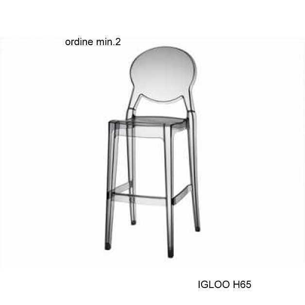 Scab Set 2 sedie Igloo Chair in Policarbonato bianco